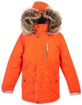 Парка оранжевая зимняя Lenne - Ленне куртка WOODY 18368