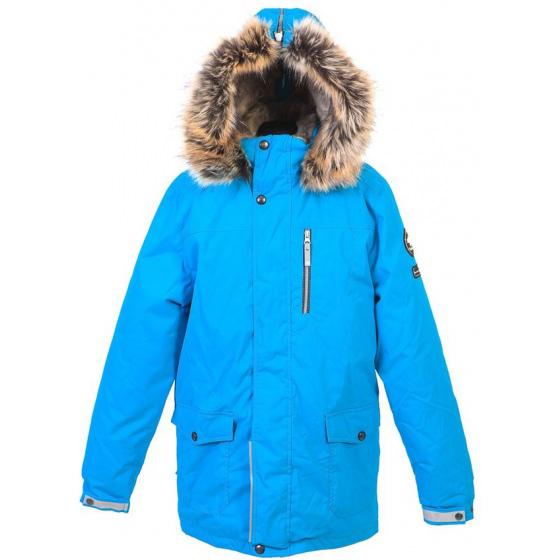 Парка голубая зимняя Lenne - Ленне куртка WOODY 18368-637