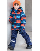 Костюм - комплект сине-оранжевый зимний куртка + полукомбинезон Lassie by Reima