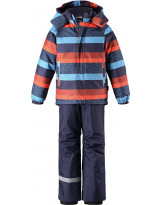 Костюм - комплект синt-оранжевый зимний куртка + полукомбинезон Lassie 723732/6951