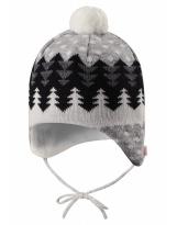 Шерстяная серая шапка-бини зимняя с завязками Reima - Рейма Nietos 518486