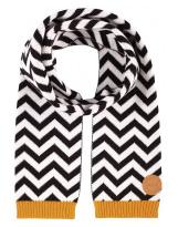 Красивый шерстяной черно-белый зимний шарф Reima - Рейма Kola 528593