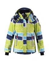 Лыжная зимняя желтая куртка пуховик Reima tec - Рейма Frost 521576