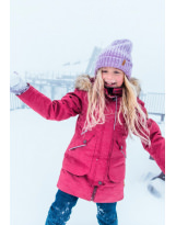 Зимняя малиновая куртка парка пуховик Reima tec Inari 531372