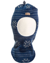 Тёмно-синий шерстяной зимний шлем Kivat - Киват