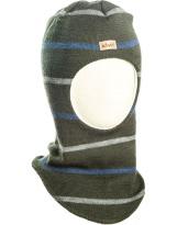Шерстяной тёмно-зелёный зимний шлем Kivat - Киват