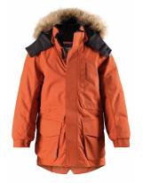 Зимняя оранжевая куртка парка пуховик Reima tec - Рейма Naapuri 531351