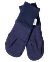 Шерстяные темно-синие варежки с манжетом KIVAT 158