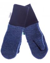 Шерстяные синие варежки с манжетом KIVAT 158