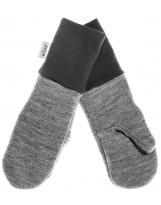 Шерстяные светло-серые варежки с манжетом KIVAT 158