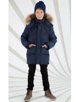 Темно-синий зимний пуховик Lenne - Ленне куртка ROSTER 18569