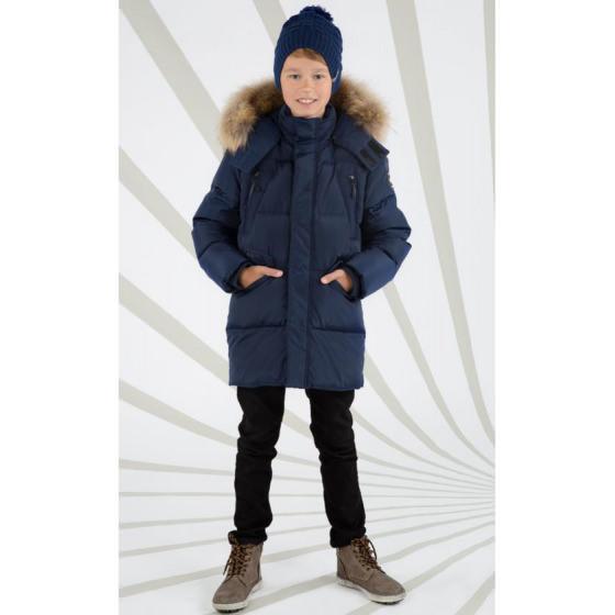 Темно-синий зимний пуховик Lenne - Ленне куртка ROSTER 18569/229