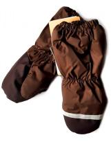 Зимние коричневые рукавицы краги Lenne Active