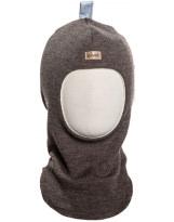 Шерстяной серо-коричневый зимний шлем Kivat - Киват