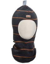 Шерстяной темно-серый полосатый зимний шлем Kivat - Киват