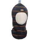Шерстяной темно-серый полосатый зимний шлем Kivat - Киват 496-80-56