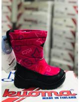 Сапоги зимние Kuoma Putkivarsi wool Pink Nanok - Куома Путкиварси розовые