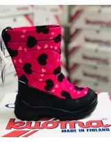 Сапоги зимние Kuoma Putkivarsi Pink Winter Heart - Куома Путкиварси