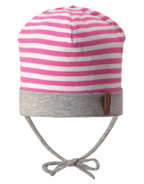 Демисезонная розовая шапка бини Reima - Рейма Huvi 518514