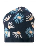Демисезонная темно-синяя шапка бини Reima - Рейма Lehto 538052