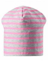 Двусторонняя демисезонная розовая шапка бини Lassie 728757