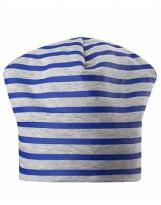Двусторонняя демисезонная синяя шапка бини Lassie 728757