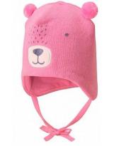 Демисезонная розовая шапка бини Lassie 718757/4180