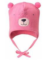 Демисезонная розовая шапка бини Lassie 718757
