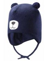 Демисезонная темно-синяя шапка бини Lassie 718757/6960