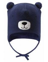 Демисезонная темно-синяя шапка бини Lassie 718757
