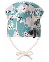 Демисезонная бирюзовая шапка с завязками бини Lassie 718761