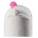 Демисезонная белая шапка с принтом бини Lassie 718763/0400