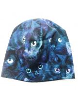 Демисезонная хлопковая шапка с кошкамиLenne TAMMY 19677