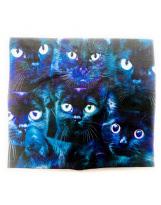 Хлопковый шарф-снуд кошка Lenne POP 19699