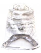 Шапка белая с завязками демисезонная Lenne SWENA 19240