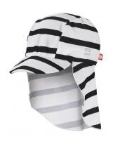 Кепка панама белая в полоску с защитой от ультрафиолета Reima Turtle 518459/0101