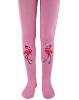 Детские розовые хлопковые колготки с цаплей ЛЕГКА ХОДА