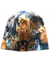Демисезонная хлопковая шапка Тигры Lenne TAMMY 19677