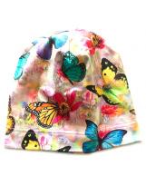 Демисезонная хлопковая шапка Бабочки Lenne TAMMY 19677