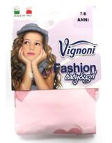 Розовые с сердцем Итальянские капроновые колготки Vignoni
