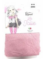 Розовые с серебром Итальянские капроновые колготки Vignoni