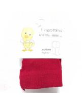 Итальянские красные хлопковые колготки Fagottino