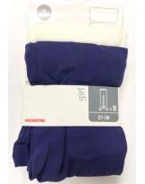 Белые и синие капроновые колготки ORCHESTRA
