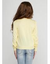 Кофта жакет желтый для девочек Flash - Флеш 15B029/1850