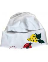 Белая шапка для девочки Flash - Флеш 15DY585/2600