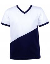 Футболка школьная сине-белая Flash - Флеш 18B55/3/2650/2000