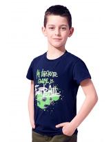 Футболка Темно-синяя Summer Teens 74-9008-1