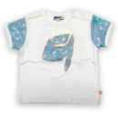 Летняя хлопковая футболка на кнопочках Motion/Моушен