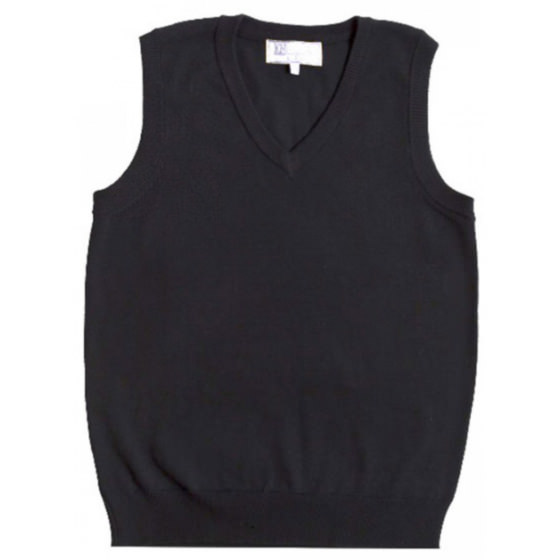 Школьная жилетка Flash/Флеш черного цвета для девочки  16D245