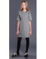 Школьное нарядное серое платье MONE 1947 МОНЕ